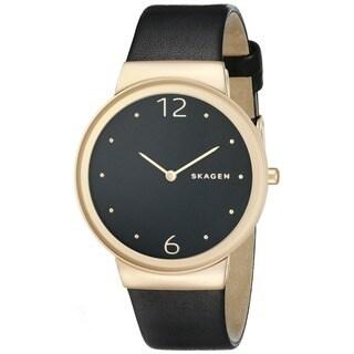 Skagen Women's SKW2370 'Freja' Black Leather Watch