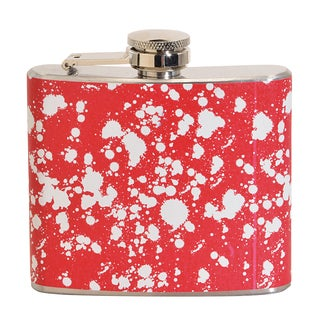 White Paint Fun 5-ounce Red Party Flask