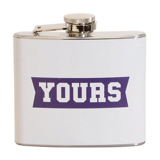 Yours Fun 5-ounce White Party Flask