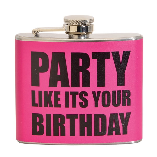 Party Like It's Your Birthday Fun 5-ounce Pink Party Flask