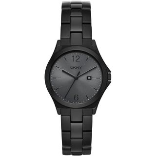 DKNY Women's NY2369 'Parsons' Black Stainless Steel Watch