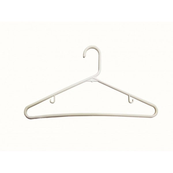 The Great American Hanger Company White Tubular Plastic Top Hanger (Box of 144)