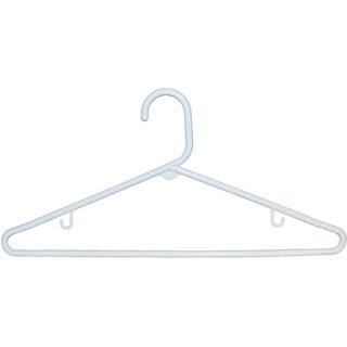 White Tubular Plastic Top Hanger (Case of 36)