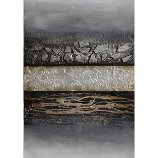 Contemporary Claude Hand-embellished Canvas Giclee Art Print (30 x 60-inch)
