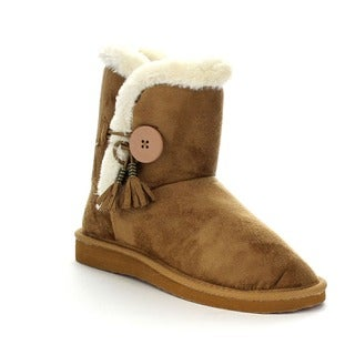 FOREVER ALING-45 Women's Faux Fur Lined Boots