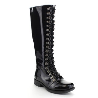 MARK and MADDUX KEVIN-04 Women's Fashion Knee High Lace Up Military Riding Boots