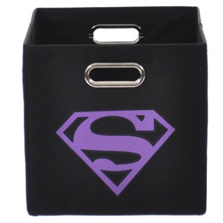 Superman Logo Purple Folding Storage Bin