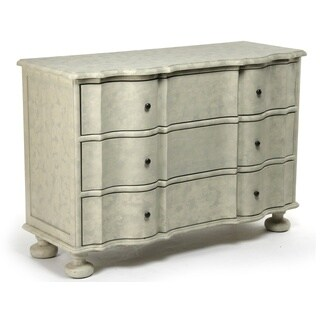Distressed Ivory Oak Dresser