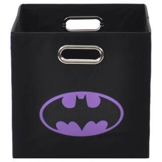Batman Logo Purple Folding Storage Bin