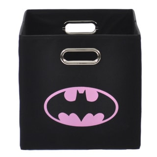 Batman Logo Pink Folding Storage Bin