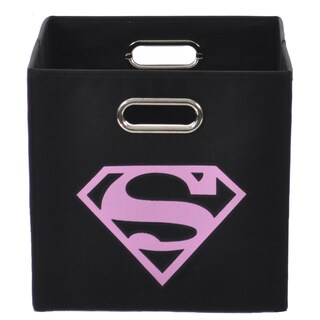 Superman Logo Pink Folding Storage Bin