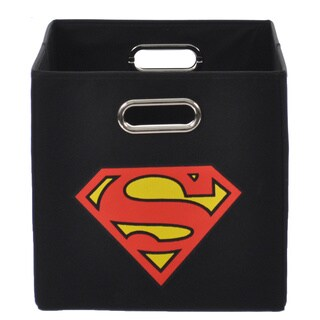 Superman Logo Black Folding Storage Bin