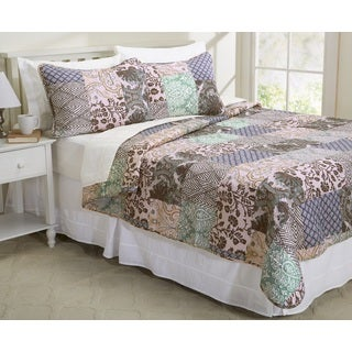 Davenport Collection Printed 3-piece Quilt Set