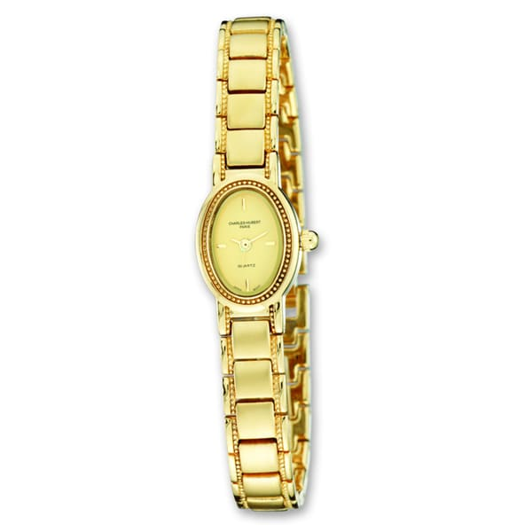 Ladies Charles Hubert Satin Gold-finish Brass Watch