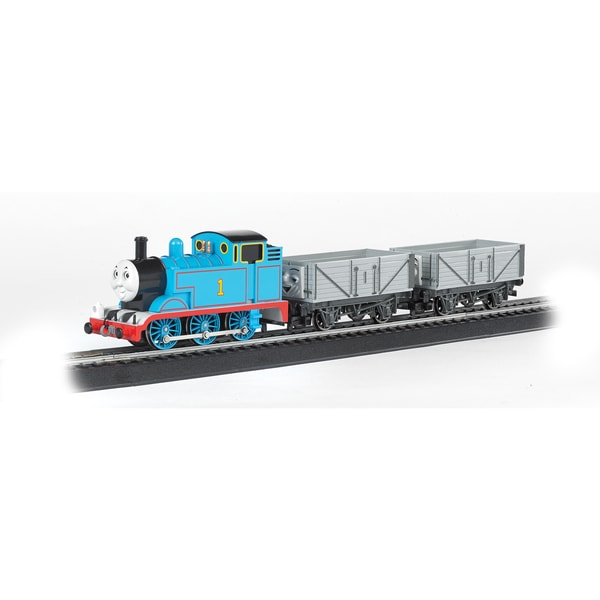 Bachmann Trains Thomas and Friends Whistle and Chuff Thomas - HO Scale Ready To Run Electric Train Set Loco withAnalog Sound