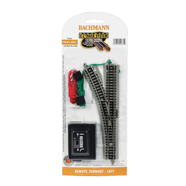 Bachmann Trains Remote Turnout - Left (1/Card) - N Scale