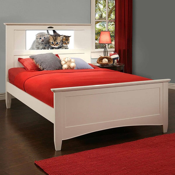 LightHeaded Beds White Canterbury Full Bed