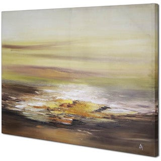 Sunrise Abstract 30-inch x 4-inch0 Framed Oil Wall Art