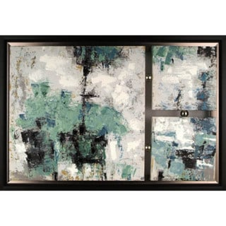Abstract Set II 42-inch x 29-inch Framed Oil Wall Art