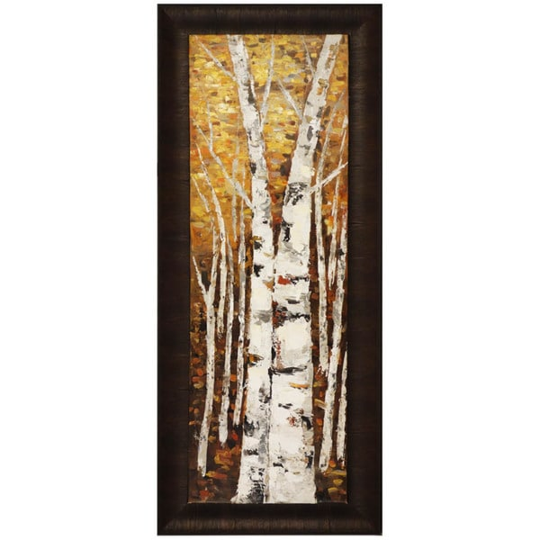 Birch Panel II 23-inch x 54-inch Framed Oil Wall Art