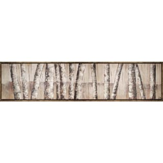 Birch Trees Panel 74-inch x 18-inch Framed Oil Wall Art