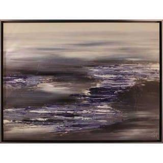 Sea Wave 30.5-inch x 40.5-inch Framed Oil Wall Art