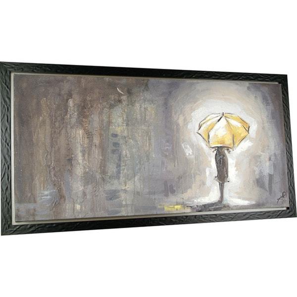 Waiting 30.5-inch x 58.5-inch Framed Oil Wall Art