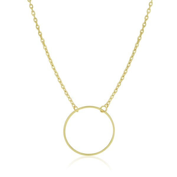Adoriana Yellow Gold Circle Necklace