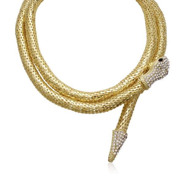 Adoriana Wrap Around Snake Necklace