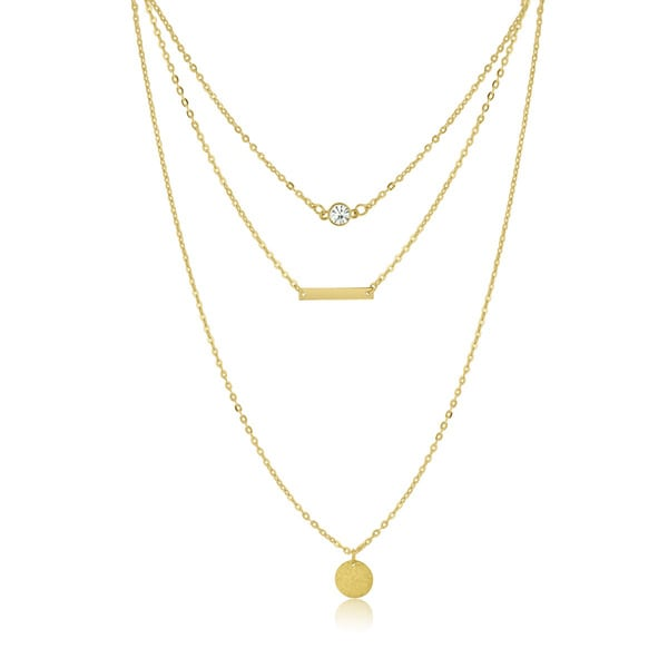 Adoriana Yellow Triple Layer Necklace