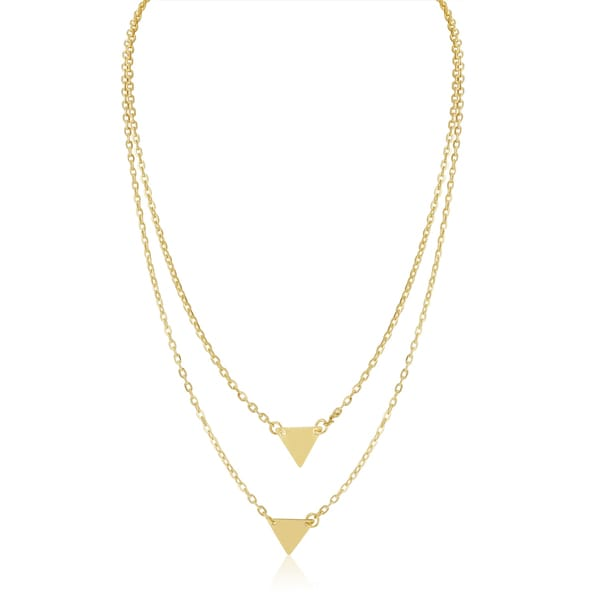 Adoriana Yellow Double Triangle Layer Necklace