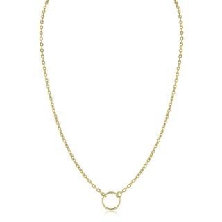 Adoriana Yellow Gold Small Circle Necklace