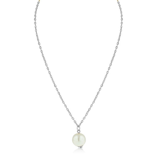 Adoriana White Pearl Solitaire Necklace