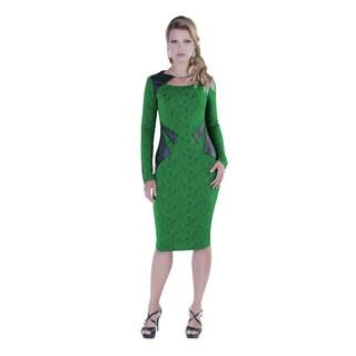 Kayla Collection Women's Flower Print Dress