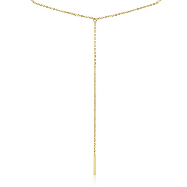 Adoriana White Y Bar Necklace