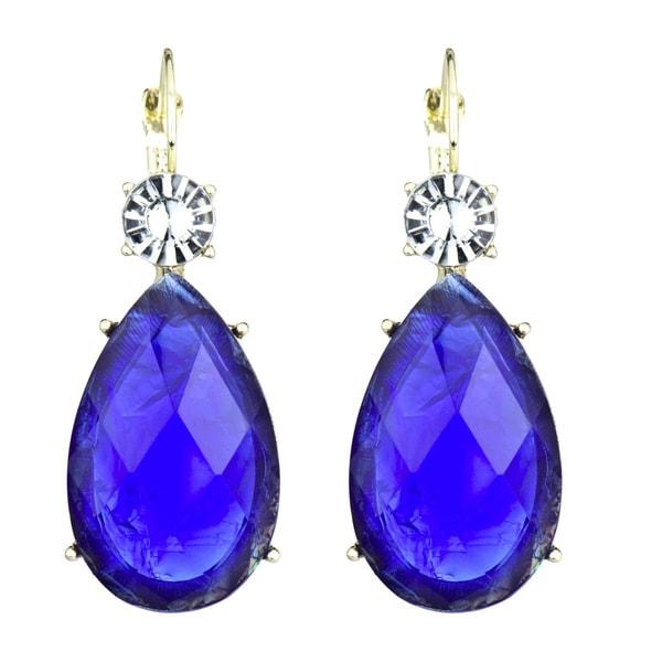 Blue Pear Drop Earrings