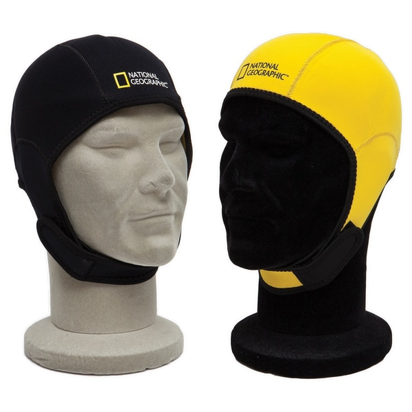National Geo Snorkeler Reversible Beanie Hood Black to Yellow