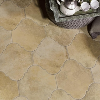 SomerTile 10.375x11.375-inch Fusio Provenzal Sand Porcelain Floor and Wall Tile (Case of 18)