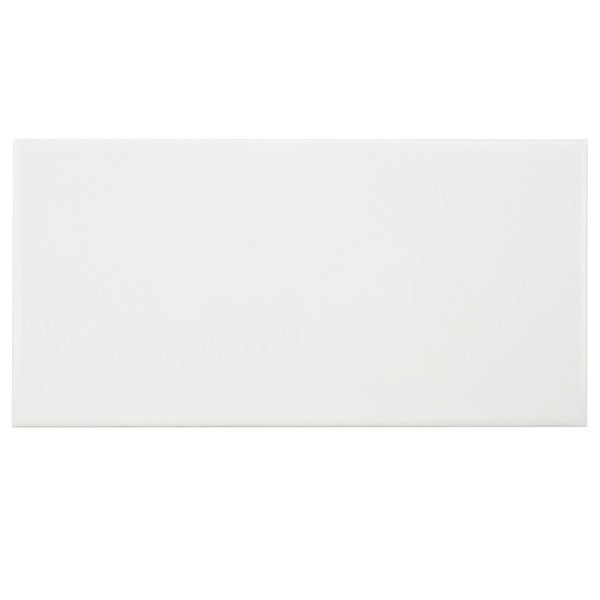 Somertile 3x6 inch malda subway glossy white ceramic wall for 16 inch floor tile