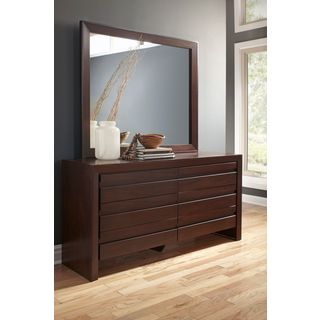 Finger Pull Picture Frame Dresser in Chocolate Brown