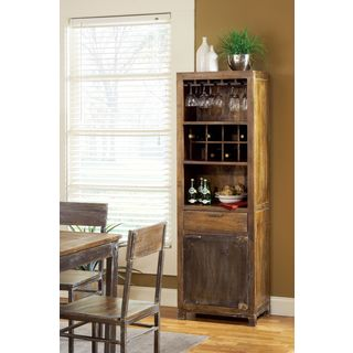 Rustic Wooden Wine Tower