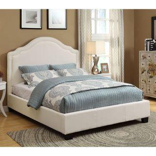 Rath Scroll White Platform Bed
