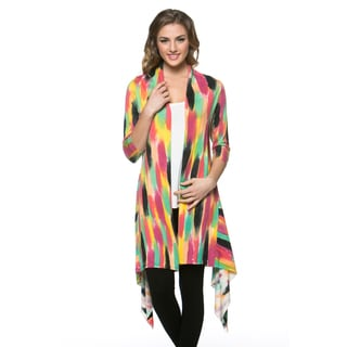 High Secret Women's Hand-painted Long Asymmetrical Cardigan