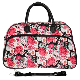 World Traveler Flower 21-inch Carry On Satchel Duffle Bag