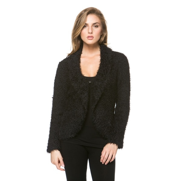 Women's Long Sleeve Fluffy Cardigan