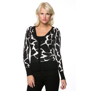 Women's Animal Print Embellished Sweater