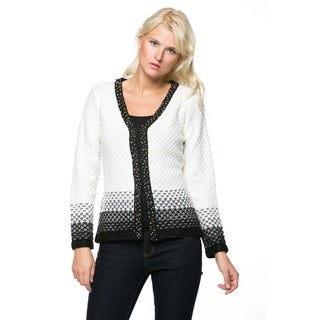 High Secret Women's Knit Block Color Cardigan