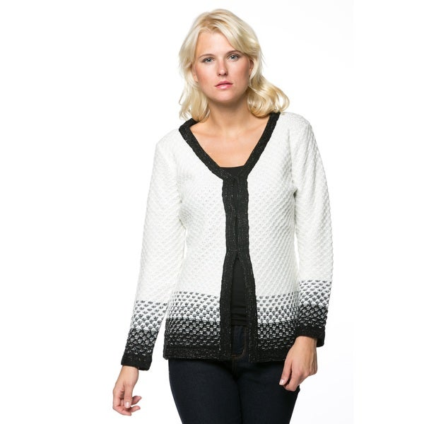 High Secret Women's Long-sleeve V-neck Knitted Cardigan