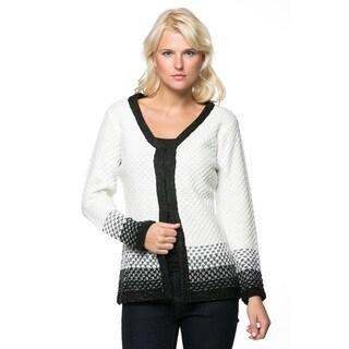 High Secret Women's Long-sleeve V-neck Knitted Cardigan