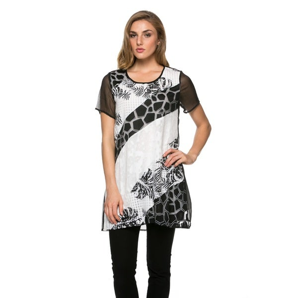 High Secret Women's Short-Sleeve Tunic Dress